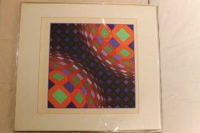 Victor Vasarely Screen Print
