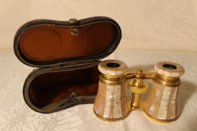 Lemaire Fabi Opera Glasses W/ Mother Of Pearl