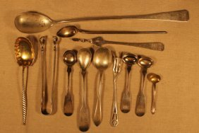 12 Assorted Sterling & Coin Silver Servers