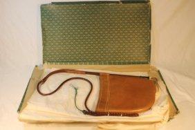 Vintage Gucci Brown Leather Riding Crop Handbag