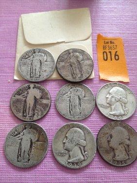 8 Silver Quarters