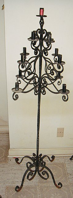 Estate Wrought Floor Stand Candelabra