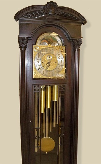 Hereschede Grandfather Clock by Colonial Mfg. : Lot 57A