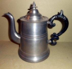 Pewter Teapot By R. Gleason