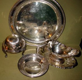 Lot Of Four Silver Plate Pieces
