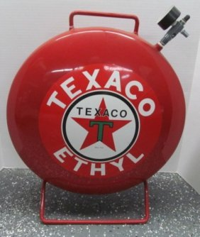 Large Red Heavy Texaco Air Tank