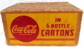 Vintage Coca-cola Wax Board Carton Crate ~ Coca-cola