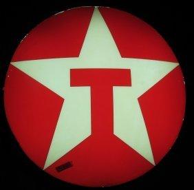 "Vintage Texaco Star Round 35"" Lighted Sign"