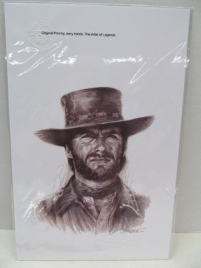 Original Print By Jerry Harris ~ Clint Eastwood ~ The