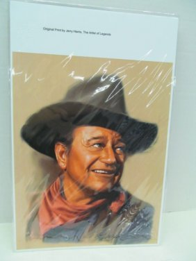 Original Print By Jerry Harris ~ John Wayne ~ The