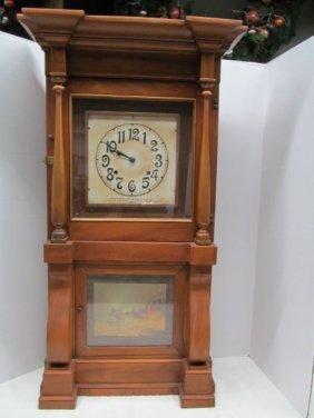 Antique 1971 Wm. L. Gilbert Store Regulator Clock ~