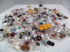 Large Lot (b) Of Vintage Buttons / All Packaged ~ Some