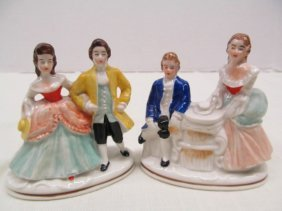 Pair Of Dresden Germany Porcelain Figurine Couples ~ 3