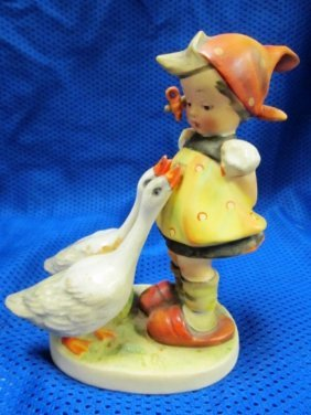 "Vintage Hummel Full Bee Girl W/geese 5"" Figurine"
