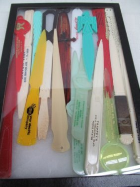 Lot Of 19 Vintage Advertising Letter Openers ~ Nice