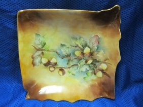 "Signed Hand Painted 8"" Tray / Dish"