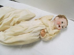 "Antique (79) Germany 14"" Open Mouth W/teeth Doll ~"