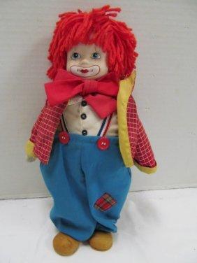 """Vintage (122) Musical Clown 12"""" Doll"""