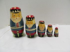 Vintage (166) Russian Nesting Doll Set ~ 5 Layers ~