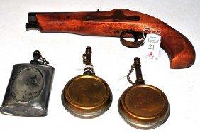 Flintlock Pistol And Accessories