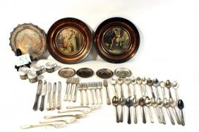 Silver Plate Lot With Silver Overlay