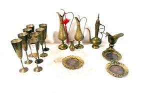 Brass Lot With Chalices
