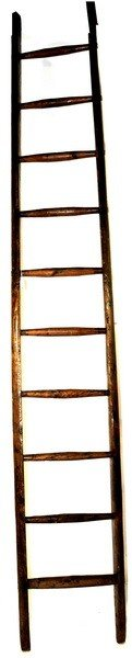 Rustic Old Nice Apple Ladder 9' In Length