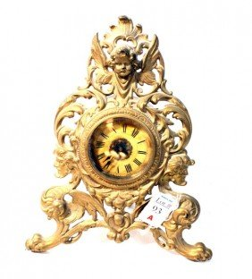 Western Clock Company Figural Mantle Clock