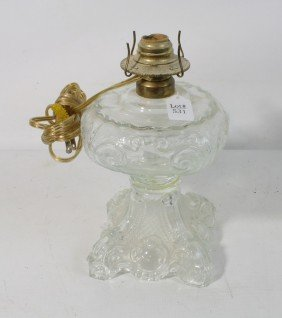 Clear Glass Base Lamp Without Shade Or Top