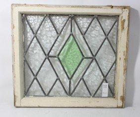 Stained Glass Window Diamonds Green, Purple Clear