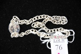 1.28 Troy Ounce Tiffany And Company Sterling Chain