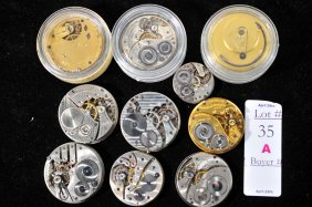 Lot Of 10 Complete Pocket Watches