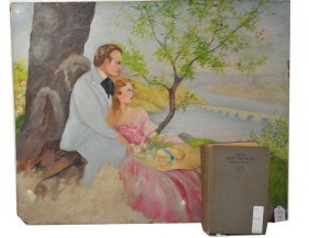 """2pc Lot Including: 23x28 OOMB Depicting """"Gone With"""