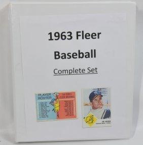 Complete Set Of 1963 Fleer Baseball Cards Including Che