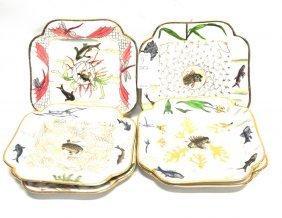 12 Limoges Artist Signed Fish Plates