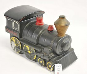 Vintage Train Cookie Jar 12""