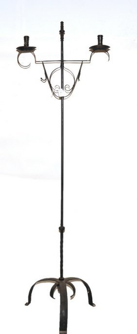 Wallace Nutting Wrought Iron Candle Stand 66""