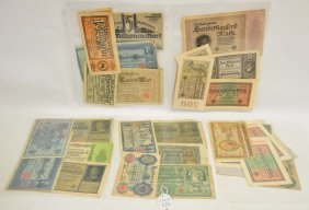 Forty Five Pieces Of German And Related Currency