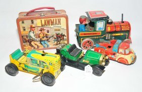 Collection Of Tin Toy Items To Include