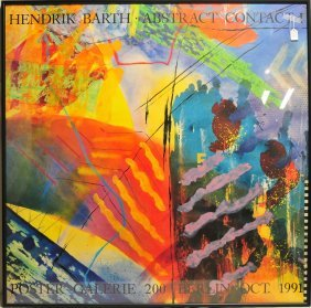 Hendrik Barth Abstract Art Poster 45x45