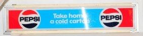 Vintage Pepsi Cooler Topper Sign 55x12