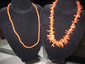 2 Coral Necklaces