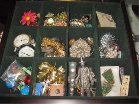Assorted Costume Jewelry In Box
