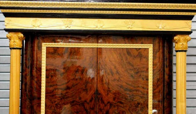 Custom italian carved wood lacquer armoire lot 489 for Armoire new york city
