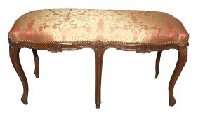 Antique French Louis XV Walnut Bench