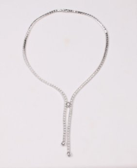 18k White Gold Necklace W/ 3.85 CTW Diamonds