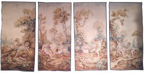 4 Museum Quality 18th C. Flemish Tapestries