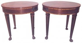 Pair Of Regency Style Mahogany Side Tables