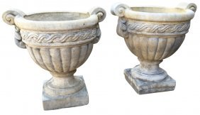 Pair Of Neo-classical Cast Stone Planters