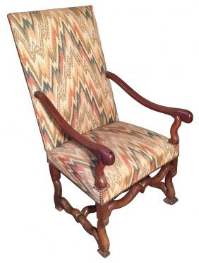 An 18th C. French Louis Xiii Walnut Armchair